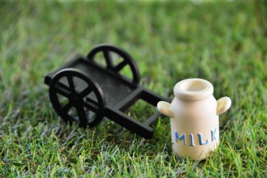 栄養豊富な牛乳