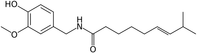 カプサイシンの化学構造