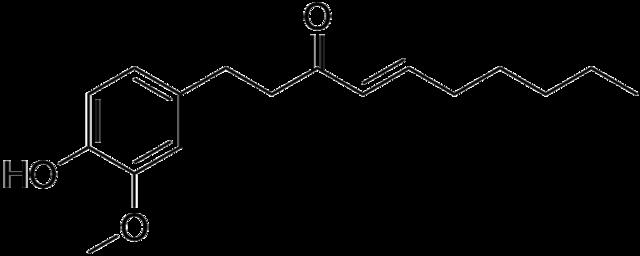 ショウガオールの化学構造