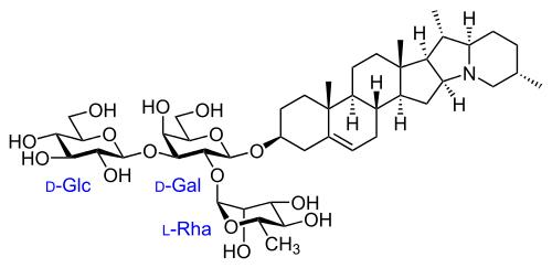 ソラニン(αーソラニン)の化学構造