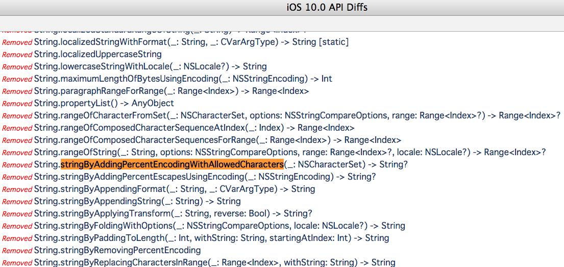 iOS10でのメソッド名の変更