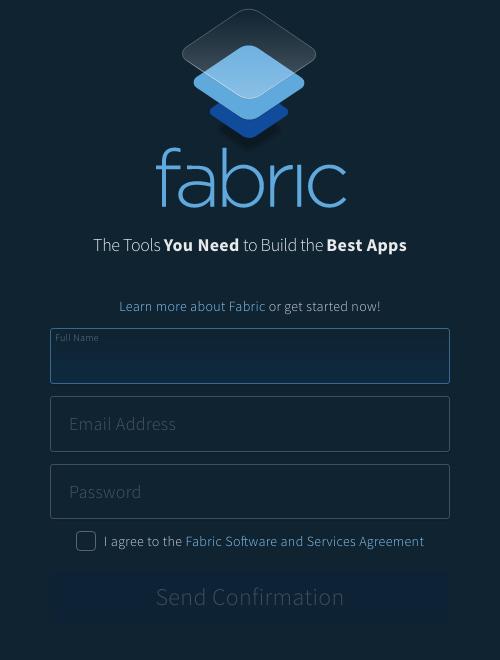 fabricのユーザ登録