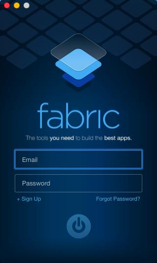 Fabricのログイン画面