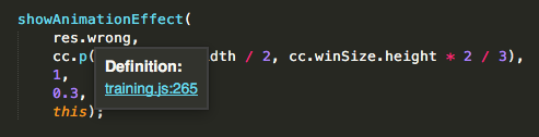 SublimeTextで変数の定義行数表示