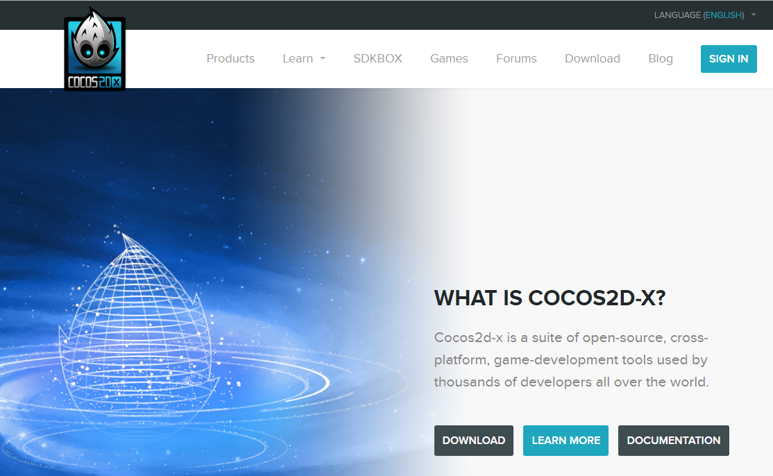 cocos2d-xの公式サイト