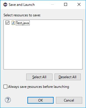 javaの保存確認ダイアログ
