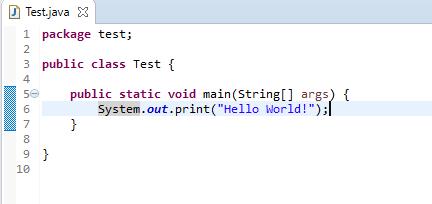 HelloWorldのJavaソースコード