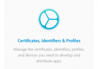Apple Developer の Certificates, Identifiers & Profiles ボタン