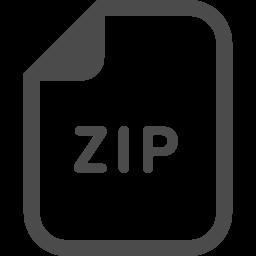 ZIP圧縮ファイルのアイコン