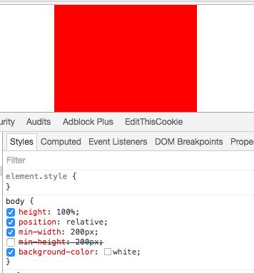 min-heightを無効化して画面サイズに関わらず中央表示になった例