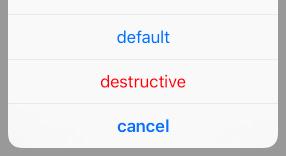 UIAlertAction のボタンのスタイル