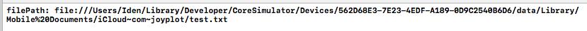 iCloud Container に保存されたファイルのURL