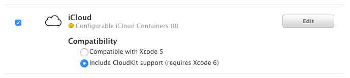 App ID に登録された iCloud の機能