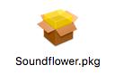 Soundflowerのpkgインストーラ