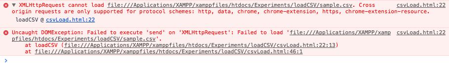 XMLHttpRequestをChromeで実行した際のエラー