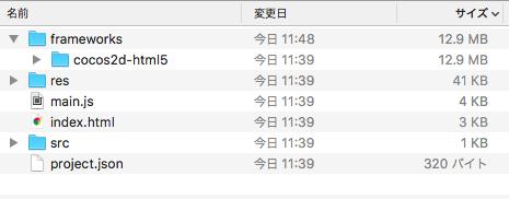 ブラウザアプリ用のファイルのみを残した状態