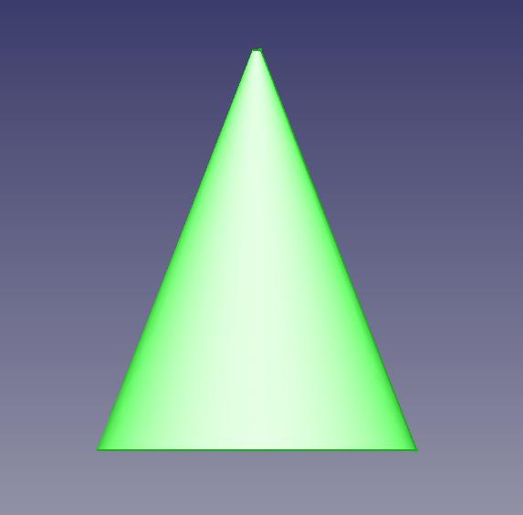 円錐をピラミッド型にした3Dモデル