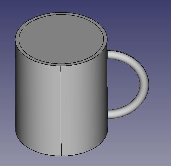 マグカップの穴の作成1