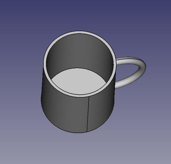 減算処理の結果できたマグカップ