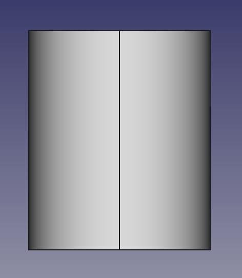 作成されたマグカップの本体部分の円柱