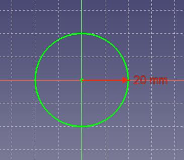 円の半径が固定された円のスケッチ