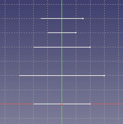 XZ平面のスケッチ
