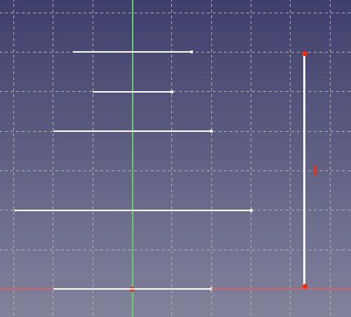 直線が描かれたスケッチ