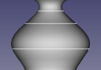 スイーブユーティリティから作成したソリッドの3Dモデル