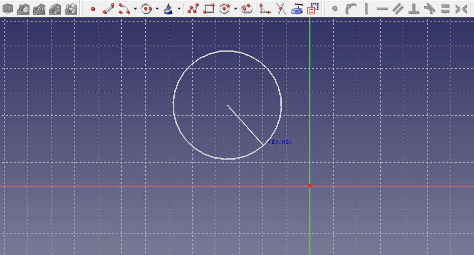 スケッチで円を描く
