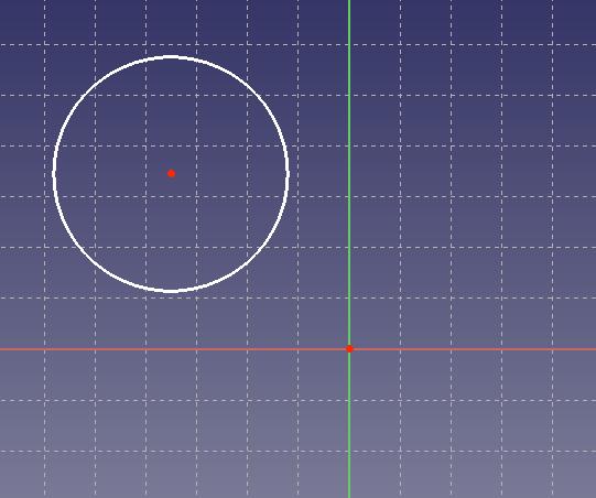 スケッチ上に作成された円