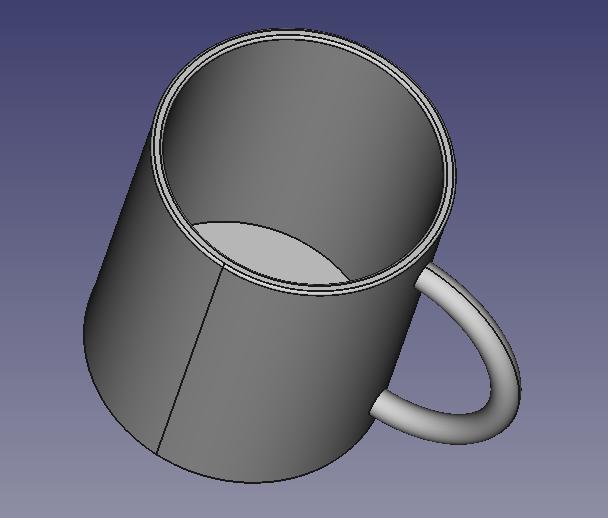 マグカップの3Dモデル(STL)