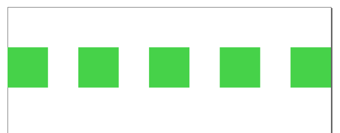 左右に余白を持たせずに要素を等間隔で配置する