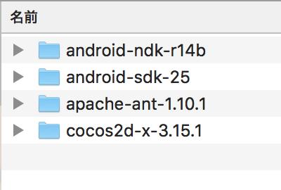 Cocos2d-xに必要なファイル