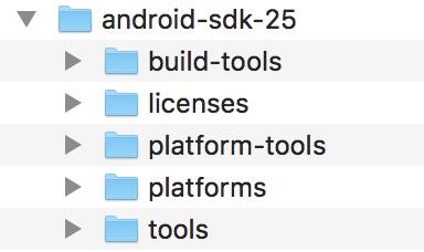 古いバージョンの Android SDK の準備完了