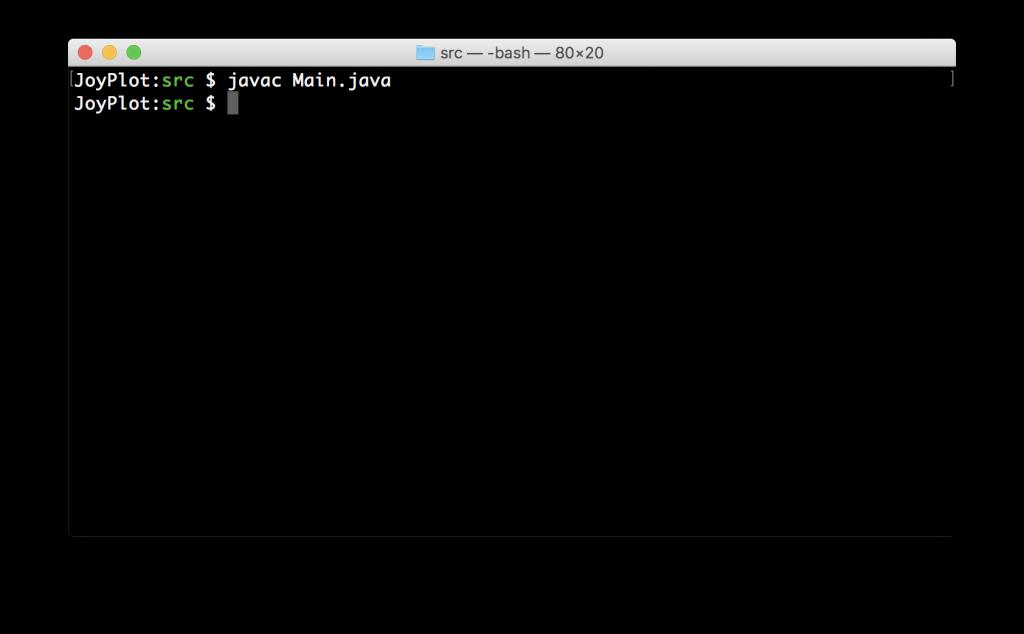 javacコマンドでソースコードをコンパイル