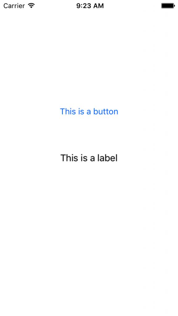 英語にローカライズされたアプリの実行例
