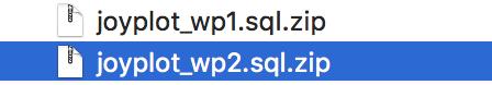 ローカルに保存されたWordPressのデータベースのデータ