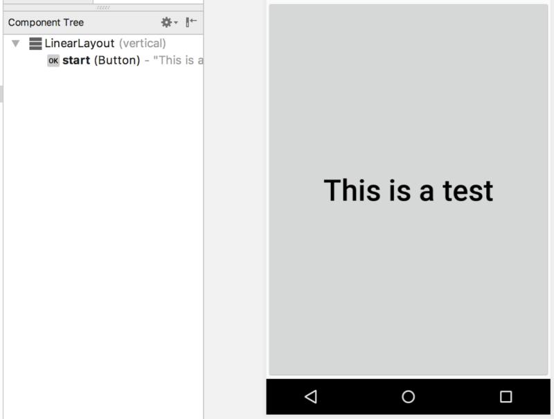 Androidのボタンに小文字が表示された