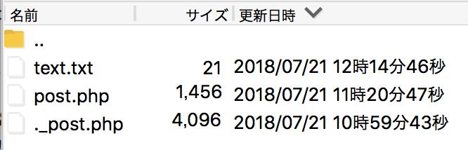 リソースフォークが含まれるディレクトリの例