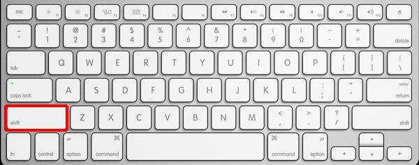 macをセーフモードで起動するキー入力