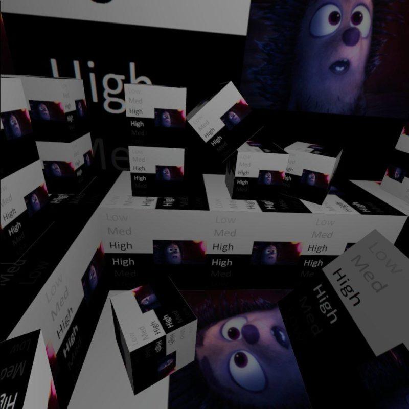 OculusIntegrationのサンプルシーンのRoom
