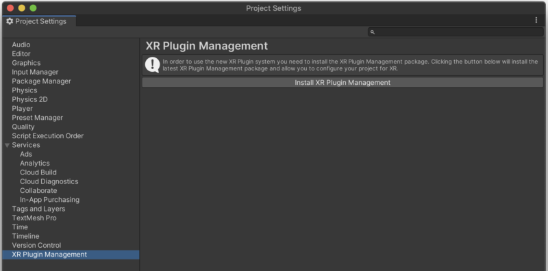 XR Plugin Management