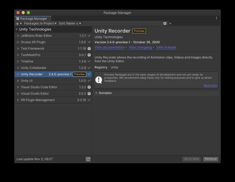 UnityRecorder2.4