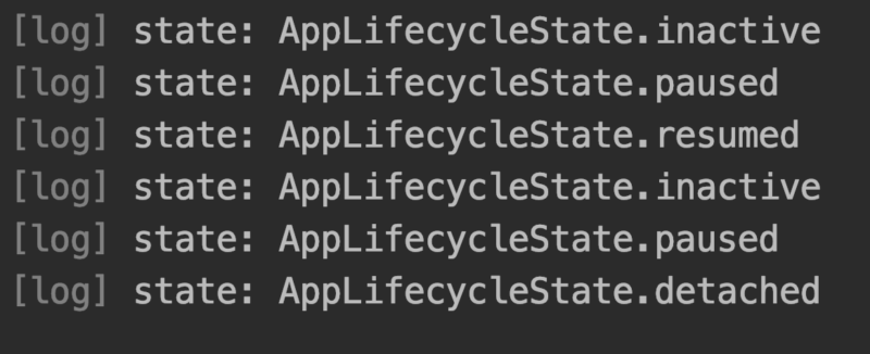 AppLifecycleStateの変化ログ