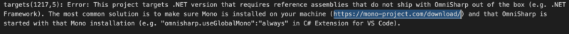 NET-OmniSharp-Error