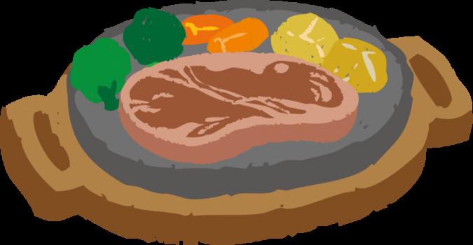 栄養豊富な肉と野菜の食事