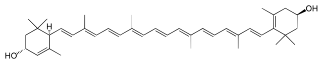 ルテインの化学構造