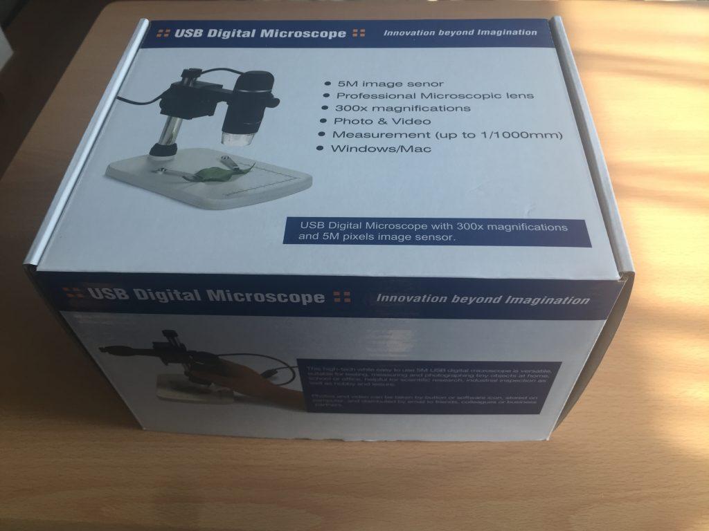 デジタル顕微鏡の箱