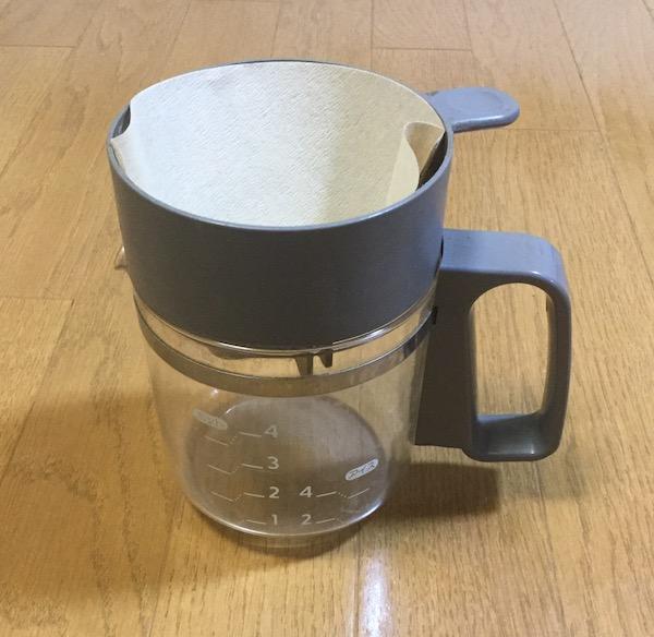 雪解け水からゴミを濾過するのに使用したフィルター