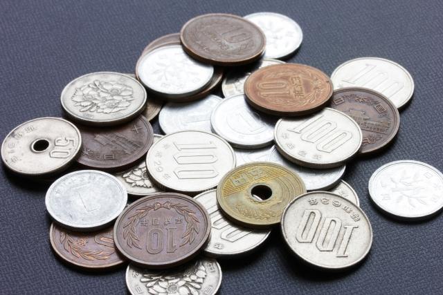 日本の貨幣(小銭)のイメージ